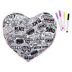 Total Girl Heart Pillow