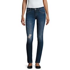 Arizona Destructed Jeggings-Juniors
