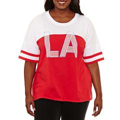 Flirtitude LA Graphic T-Shirt- Juniors Plus