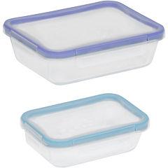Snapware® Total Solution 4-pc. Rectangular Glass Food Storage Set