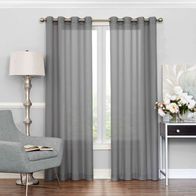 eclipse liberty grommettop sheer curtain panel - 63 Inch Curtains