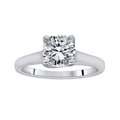 1¼ CT. Round Certified Diamond Solitaire 14K White Gold Ring