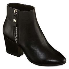 Liz Claiborne Leather Becky Womens Bootie