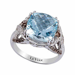 LIMITED QUANTITIES! Grand Sample Sale™ by Le Vian® 1/2 CT. T.W. Blue Aquamarine 14K Gold Cocktail Ring