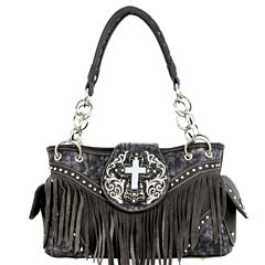 Montana West Faith Turquoise Cross Shoulder Bag