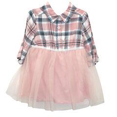 Lilt Elbow Long Sleeve Tulle Dress - Baby Girls