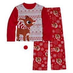 Rudolph The Red Nose Reindeer Family Pajama Set- Boys Big Kid