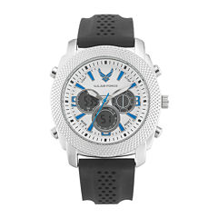 Wrist Armor® C21 Mens US Air Force Rubber Strap Chronograph Watch