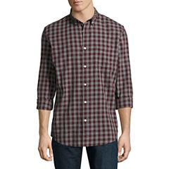Arizona Long Sleeve Plaid Button-Front Shirt
