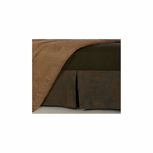 Hiend Accents Faux Leather Bed Skirt