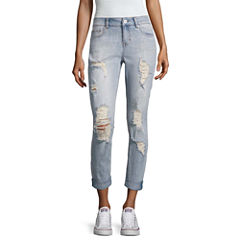 Vanilla Star Destructed Pearl Skinny Jeans-Juniors