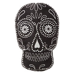 JCPenney Home™ Black Sugar Skull-Shaped Pillow