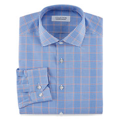 Collection by Michael Strahan Stretch Fabric Long Sleeve Dress Shirt Woven Plaid Big & Tall