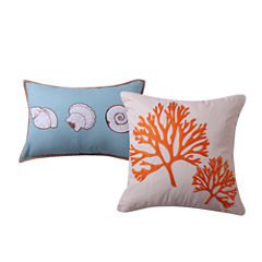 Barefoot Bungalow Atlantis 2-Pack Square Throw Pillow