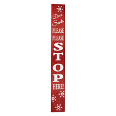 North Pole Trading Co. Christmas Cheer Santa Stop Here Porch Sign