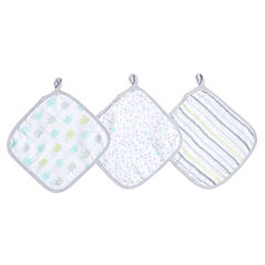 Ideal Baby 3-PK  Washcloths- Dreamy