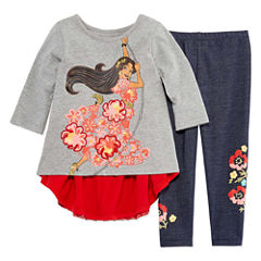 Disney by Okie Dokie 2-pc. Elena of Avalor Legging Set-Preschool Girls