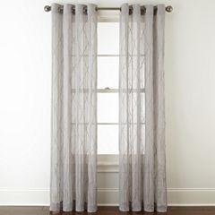 Linden Street Farmhouse Grommet Sheer Curtain Panel