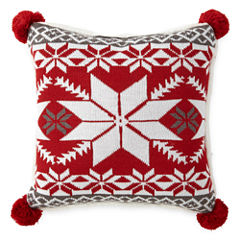 North Pole Trading Co. Fairisle Knit Throw Pillow