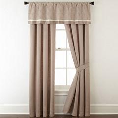 Liz Claiborne® Viceroy 2-Pack Rod-Pocket/Back-Tab Lined Curtain Panels