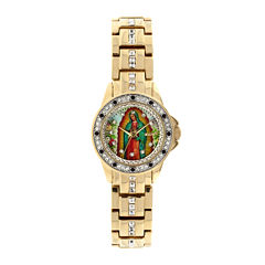 Elgin® Womens Our Lady of Guadalupe Bracelet Watch