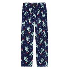Arizona Microfleece Christmas Dinosaur Pajama Pants-Boys 4-20 & Husky