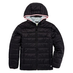 Xersion Lightweight Puffer Jacket - Girls-Big Kid Plus Tall