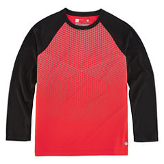Xersion Long Sleeve Crew Neck T-Shirt-Big Kid Boys