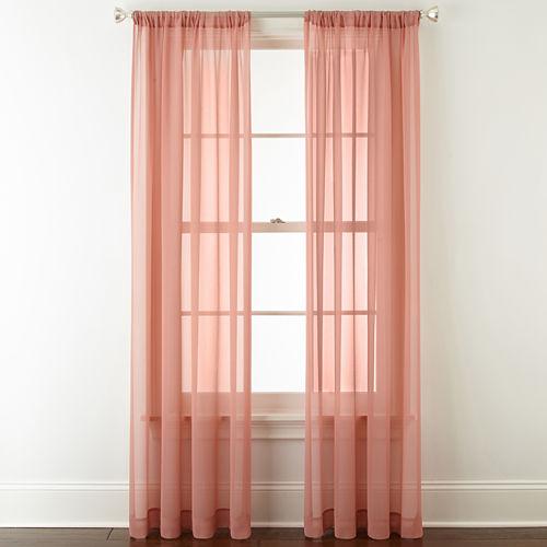 Liz Claiborne Tori Rod-Pocket Sheer Curtain Panel