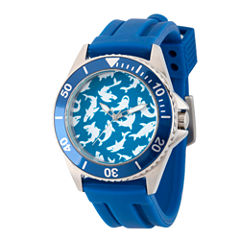 Discovery Expedition Mens Blue and White Shark Watch