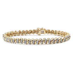 4CT. T.W.  Diamond 10K Yellow Gold Bracelet