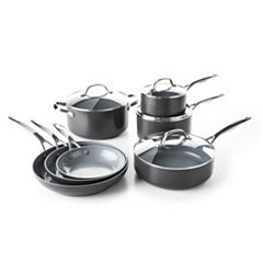 GreenPan Valencia Pro 11-pc. Aluminum Dishwasher Safe Cookware Set