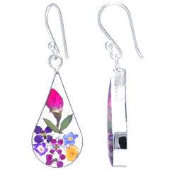 Everlasting Flower Sterling Silver Drop Earrings