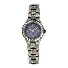 Armitron® Now® Womens Gray Crystal Watch