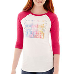 Modern Lux Raglan-Sleeve Barbie Sequin Graphic T-Shirt