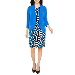R & K Originals Elbow Sleeve AttachedJacket Dress