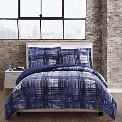 Style 212 Fulton Plaid Reversible Comforter Set