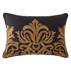 Royal Velvet Hayden Embroidered Oblong Decorative Pillow