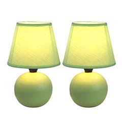 Simple Designs 2-pc. Ceramic Table Lamp