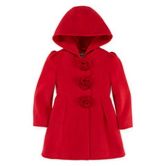 S Rothschild Girls Midweight Peacoat-Big Kid