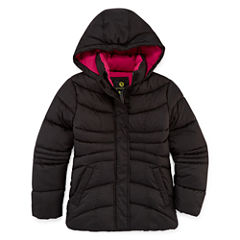 Xersion Heavyweight Pattern Puffer Jacket - Girls-Big Kid