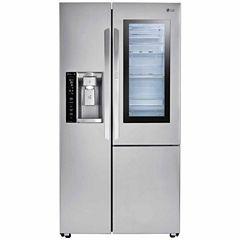 LG ENERGY STAR® 21.7 cu.ft. Counter-Depth InstaView™ Door-in-Door® Side-By-Side Refrigerator
