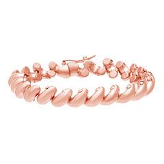 Rose IP Stainless Steel San Marco Link Bracelet