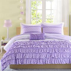 Mi Zone Ellen Ruffled Polka Dot Comforter Set