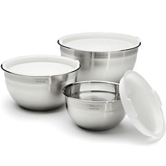 Cuisinart® 3-pc. Stainless Steel Mixing Bowls with Lids Set