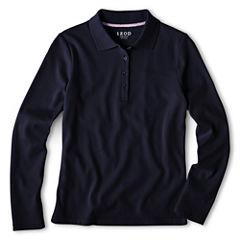IZOD® Long-Sleeve Polo Shirt - Preschool Girls 4-6x