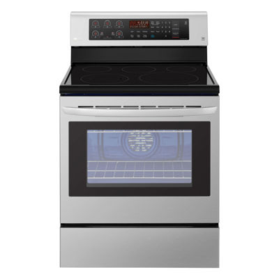 capacity electric singleoven range with true convection and