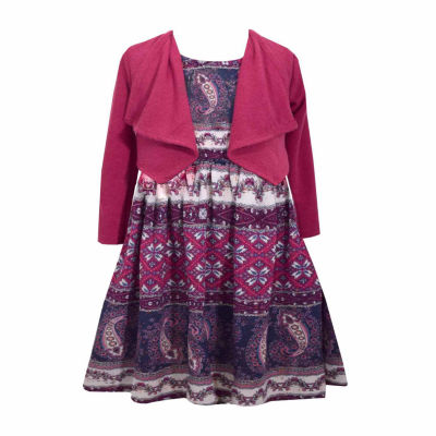 Red dress jean jacket 2t
