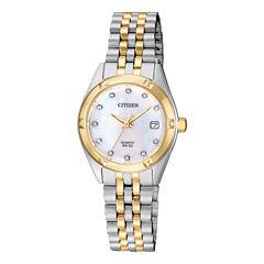 Citizen Quartz Womens Two Tone Bracelet Watch-Eu6054-58d