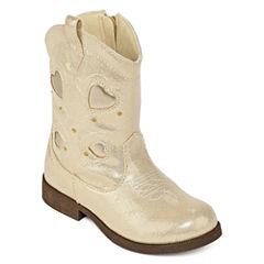 Okie Dokie® Savannah Girls Cowboy Boots - Toddler